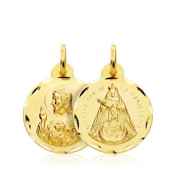 Escapulario Corazón de Jesus - Virgen de la Candelaria 18 Mm. 1,90 Gr