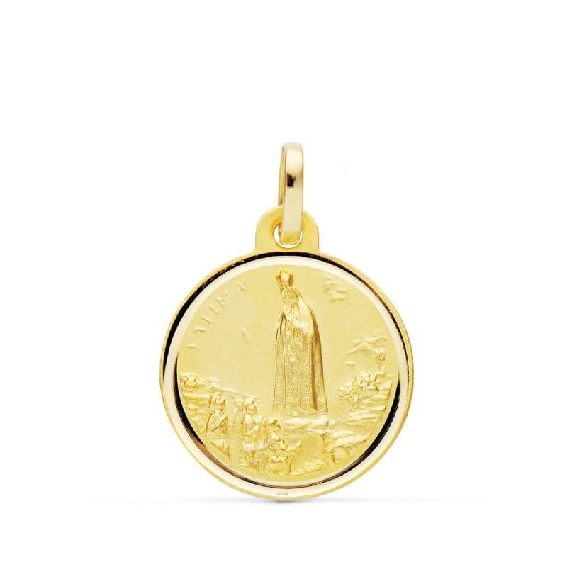 Medalla Virgen de Fátima 16mm. Bisel. 1.80grs