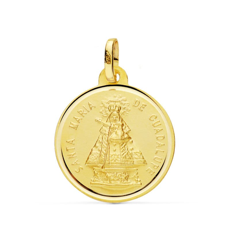 Medalla Virgen De Guadalupe 18 Mm. 2,15 Grs