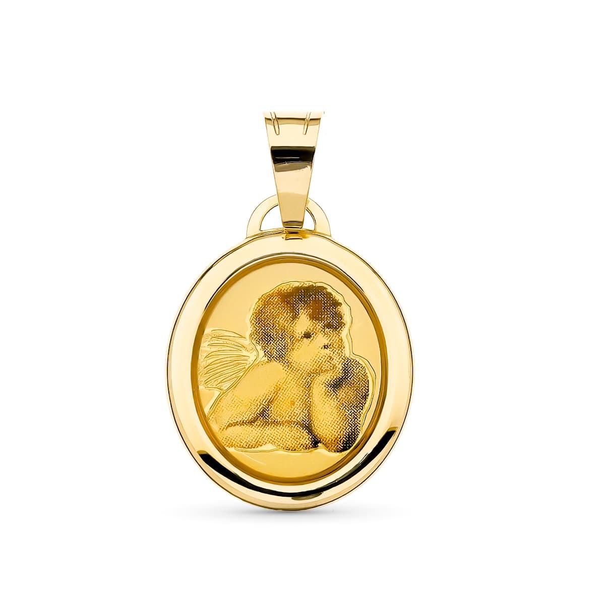 Medalla Angelito. 19 X 15 Mm. 1.20 GrSan