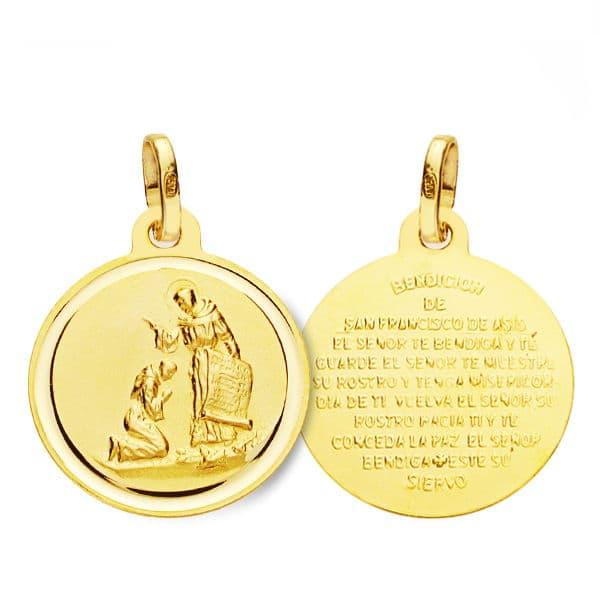 Medalla Bendición San  Francisco 16mm.1.50g
