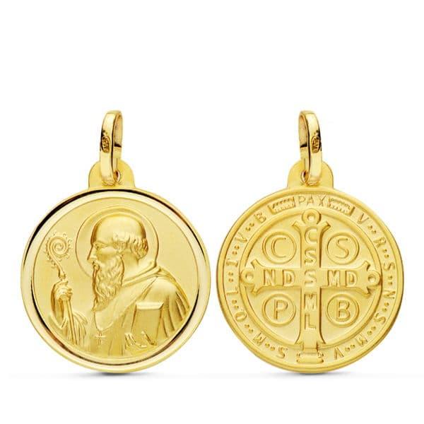 Medalla San Benito 18mm. 2.00Grs
