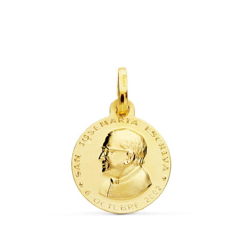 Medalla San Jose María Escrivá 14mm. 1,60gr
