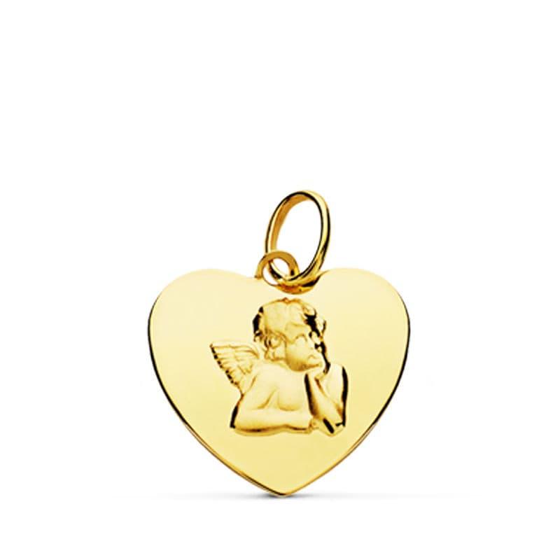 Corazón Angelito. 14 X 14 Mm. 0.60 GrSan