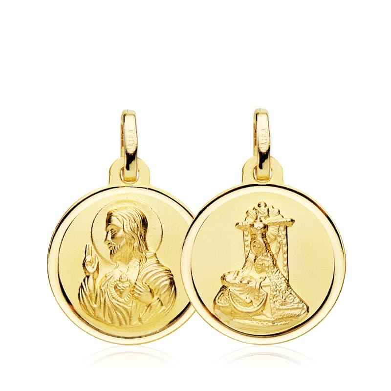 Escapulario Virgen del  Angustias - Corazón de Jesús 16 Mm. 1,50 Grs