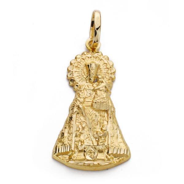 Virgen de los Desamparados Silueta. 33x18mm.3.45Grs