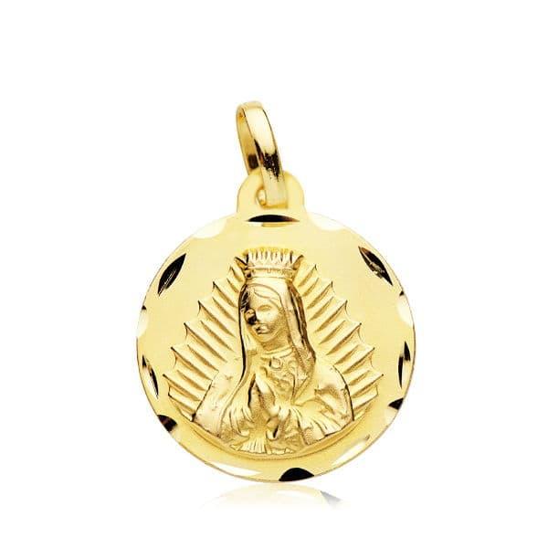 Medalla Virgen de Guadalupe 18 Mm. 2,15 Gr
