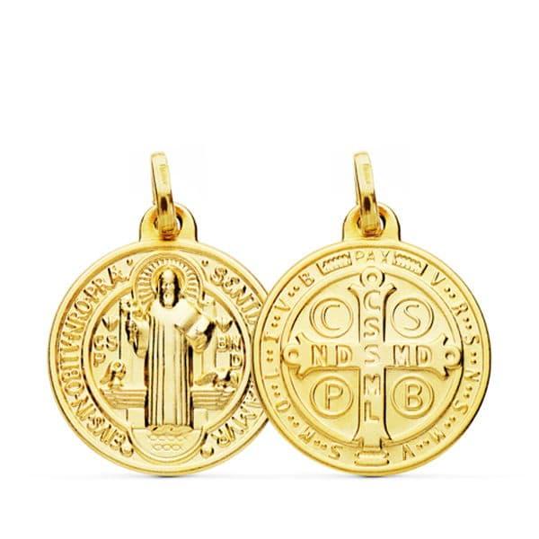 Medalla San Benito-Monje 18 Mm. 1,95gr.