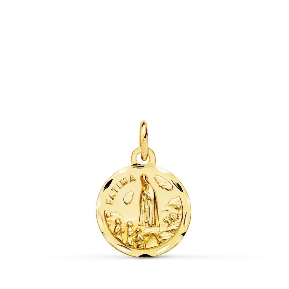 Medalla Virgen De Fátima 14 Mm. 1,40 Grs