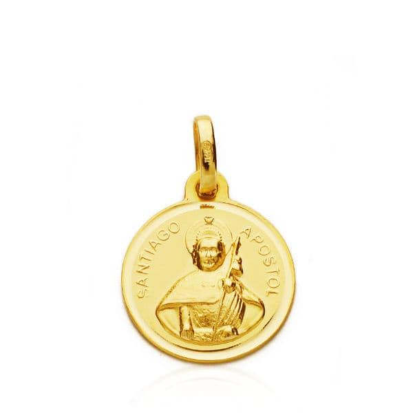 Medalla Santiago Apóstol 14mm. 1,50 Grs