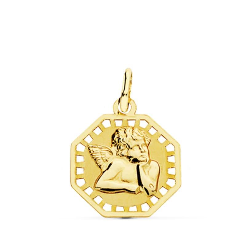 Medalla Angelito Calada. 17 X 14 Mm.