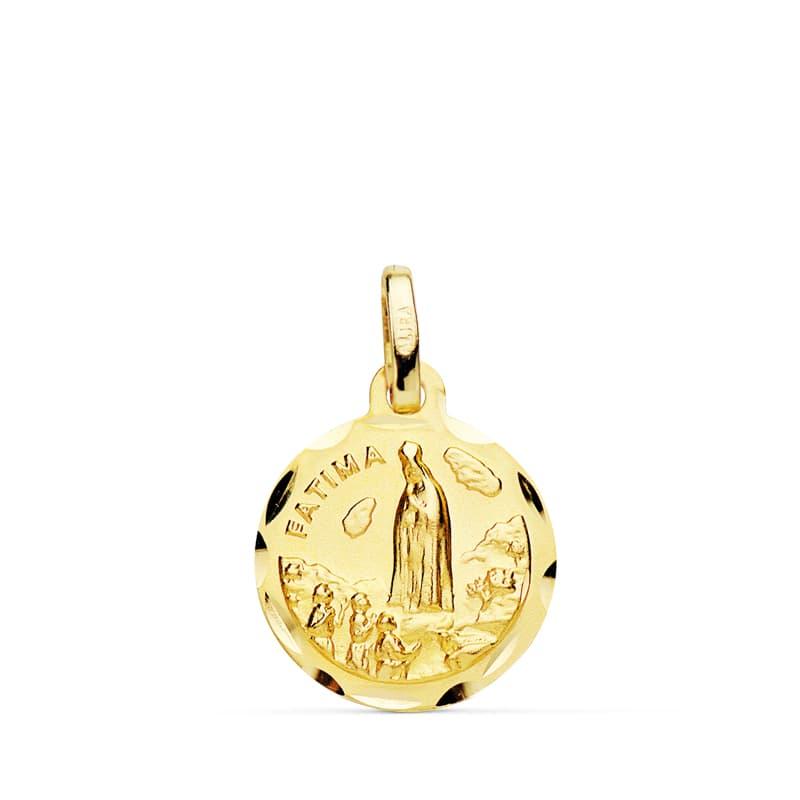 Medalla Virgen De Fátima 12 Mm.