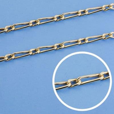 Cadena Cartier Hueca 50 Cm. 3 Mm. 9.15 Gr.