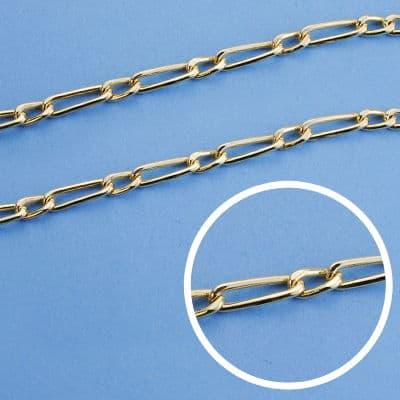 Cadena Cartier Hueca 50 Cm. 3 Mm. 6.10 Gr.