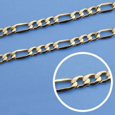 Cadena Cartier Hueca 50 Cm 6 Mm. 14.50 Gr