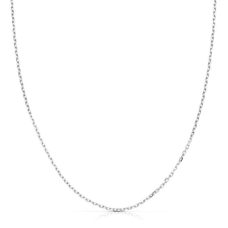 Cadena Oro Blanco Forzada 45cm. 1,65 Grs.