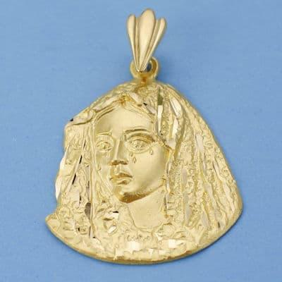 Virgen de la  Macarena Silueta. 34 X 29 Mm 8.00 Grs