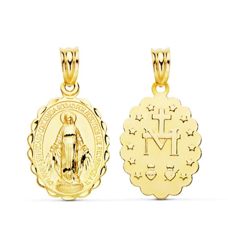 Medalla Milagrosa. 23 X 14 Mm. 1.50 Grs