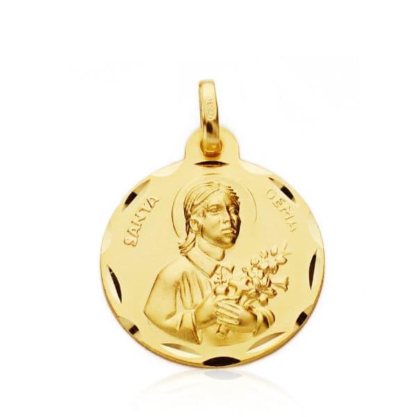 Medalla Santa Gema 18 Mm. 2.15 Grs