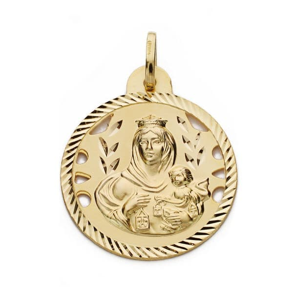 Virgen del Carmen Calada 24 Mm. 3,90 Grs