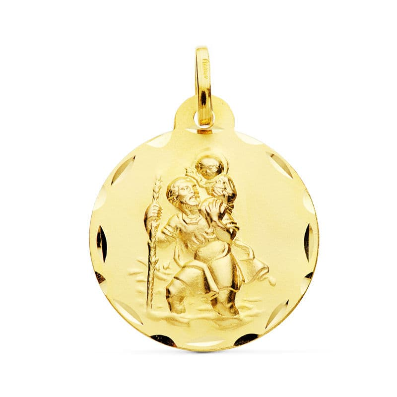 Medalla San  Cristobal. 22 Mm. 3.30 Grs