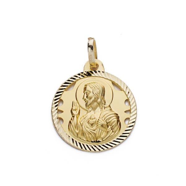 Corazón De Jesus Calado 16 Mm. 1,80 Grs