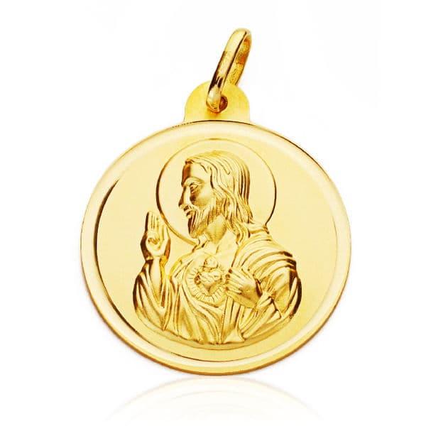 Corazón De Jesus Bisel 26 Mm. 5.00 Grs