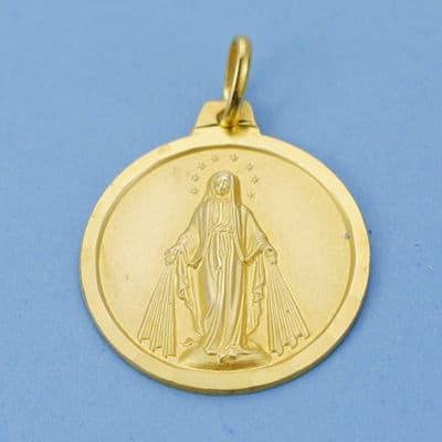 Virgen Milagrosa 20 Mm. 3,45 Grs