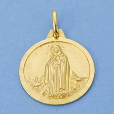 Medalla Virgen de Fátima 18 Mm. 2.95 Grs