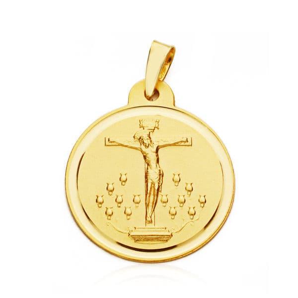 Medalla Cristo De La Laguna 20mm. 2.85gr