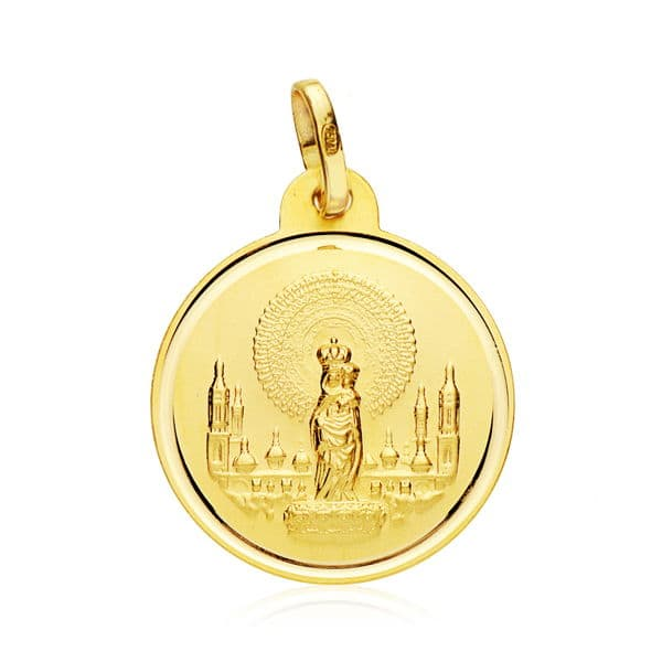 MEDALLA VIRGEN PILAR 20 MM. 2,70 GRS.