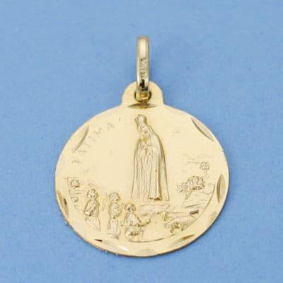Medalla Virgen de Fátima 18 Mm. 2.15 Grs