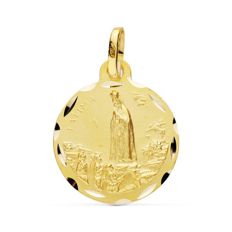 Medalla Virgen de Fátima 20 Mm. 2.75 Grs