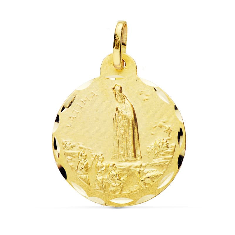 Medalla Virgen de Fátima 22 Mm. 3.35 Grs