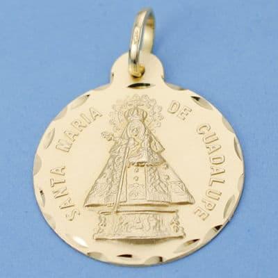 Medalla Virgen De Guadalupe 24 Mm. 4.05 Grs