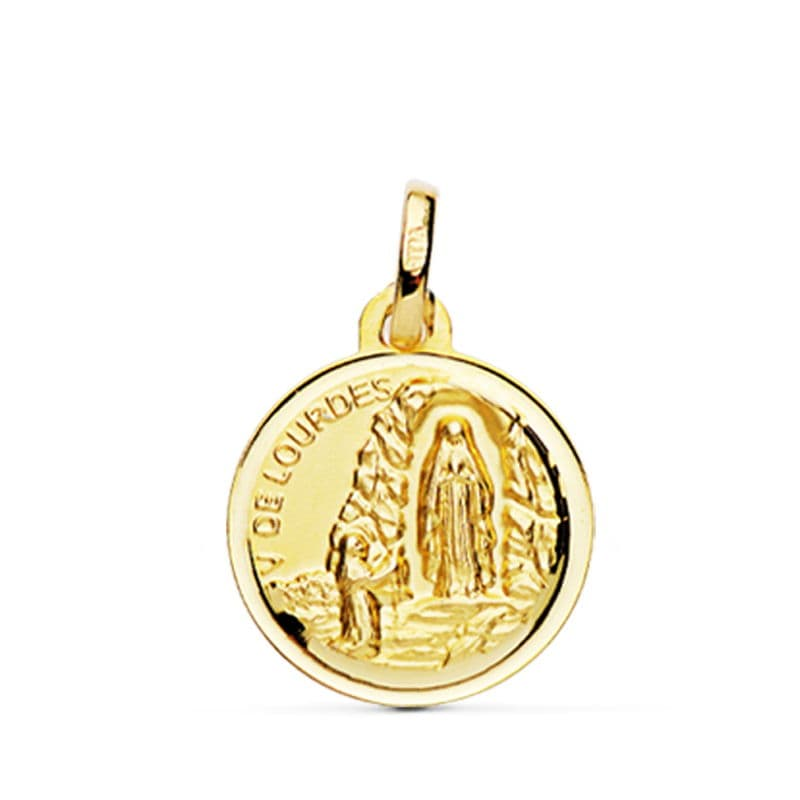 Medalla Virgen  De Lourdes 16 Mm. 1.85 Grs