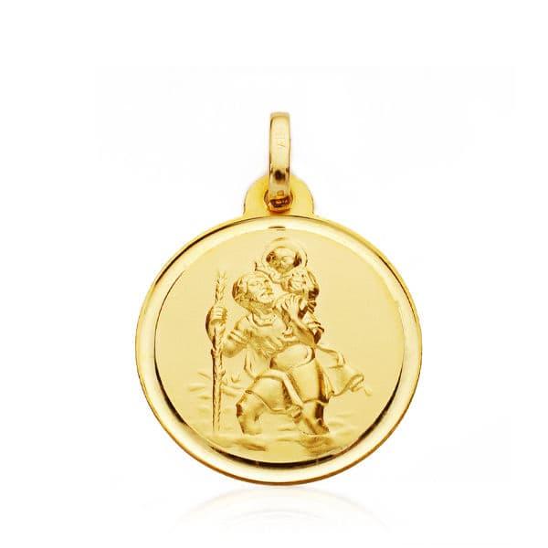 Medalla San  Cristobal 18mm. Bisel .2.25grs