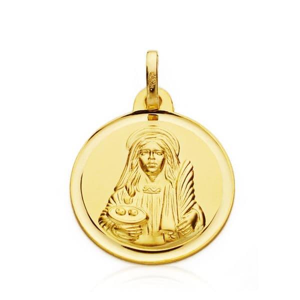 Medalla Santa Lucia 18mm. Bisel. 2.20grs