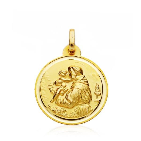 Medalla San Antonio 18mm. Bisel. 2.15grs
