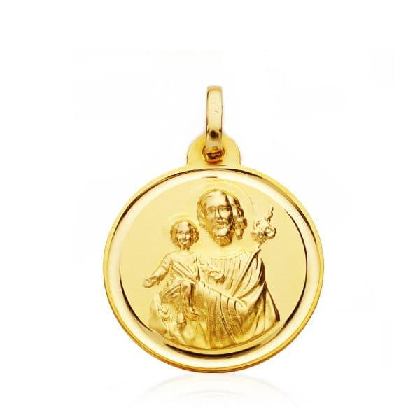 Medalla San Jose 18mm. Bisel. 2.25grs
