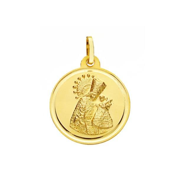 Medalla Virgen del  Desamparados 18 Mm. 2,20 Grs