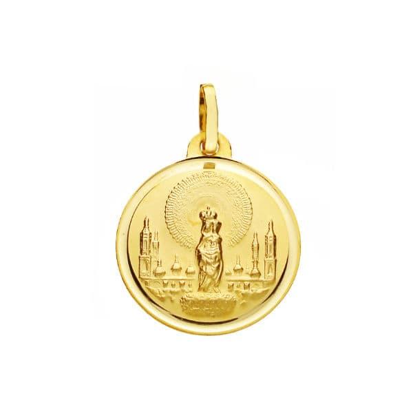 Medalla Virgen Del Pilar 18 Mm. 2,15 Grs