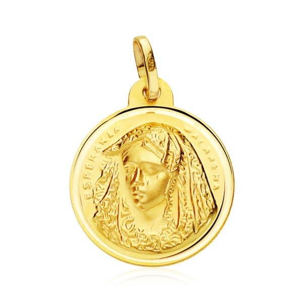 Medalla Virgen del Macarena 20 Mm. 2,70 Grs
