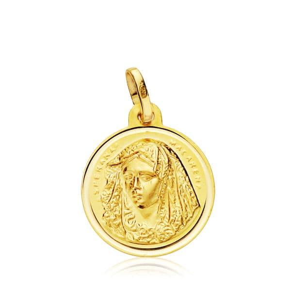 Medalla Virgen de la  Macarena 16 Mm. 1,80 Grs