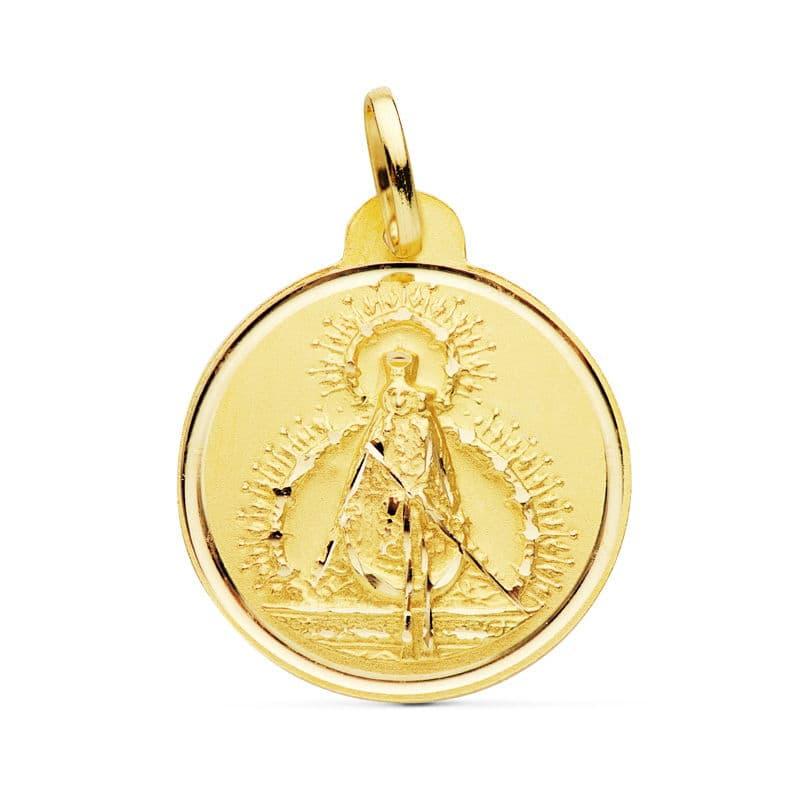Medalla Virgen De La Cabeza 22 Mm. 3.25 Grs