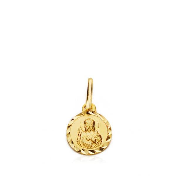Medalla Corazón De Jesús 7 Mm.
